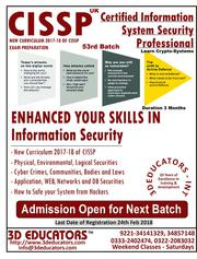 CISSP - CERTIFIED INFORMATION SYSTEM SECURITY PROFESSIONAL TRAINING
